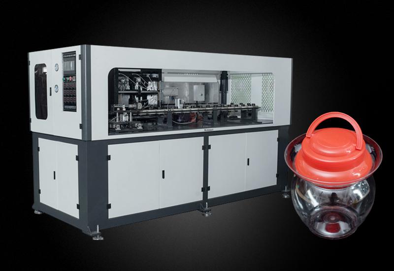 裕名定制一腔5L广口瓶 手插瓶坯自动吹瓶机YM-A5000-130