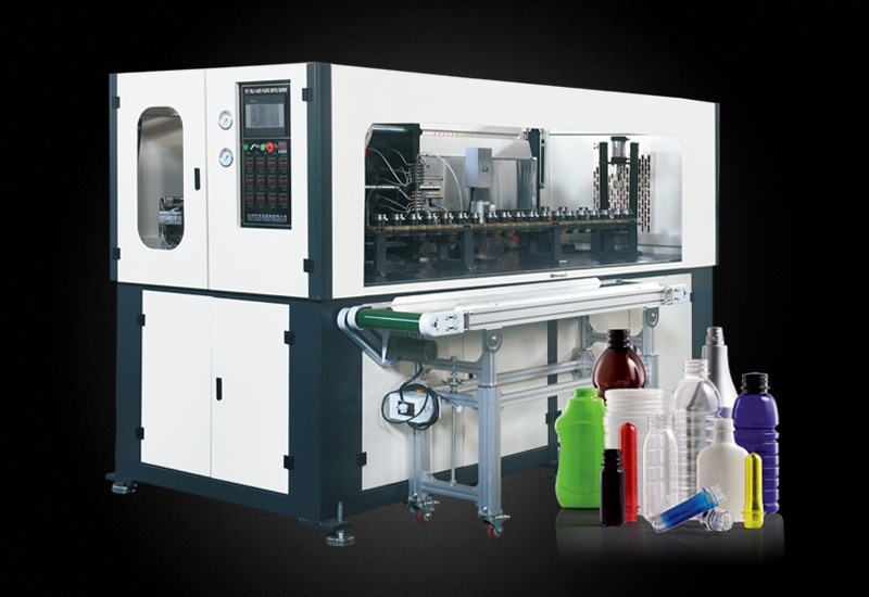 螺纹口广口瓶,易拉罐手插瓶坯自动吹瓶机YM-A2000