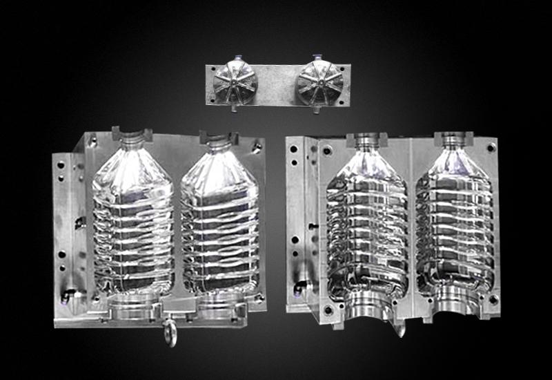 5L 全自动一出二食用油瓶吹瓶模具 吹塑模具