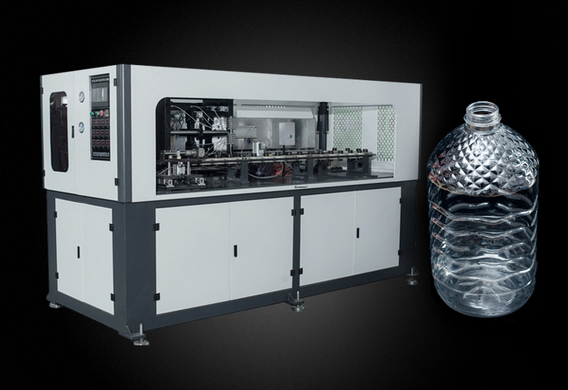 5L油瓶水瓶一腔手插瓶胚自动吹瓶机 YM-A5000