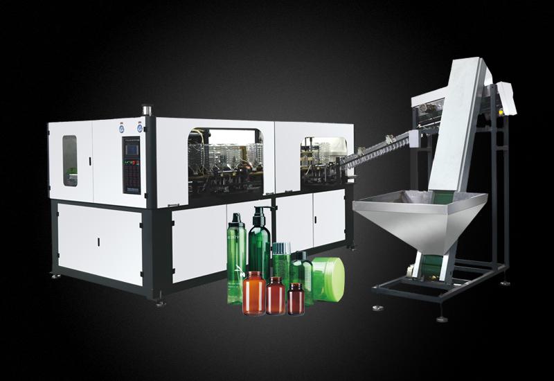 自动上坯螺旋口广口瓶易拉罐自动吹瓶机 连接注塑机YM-AB2000-2-130-73-Z