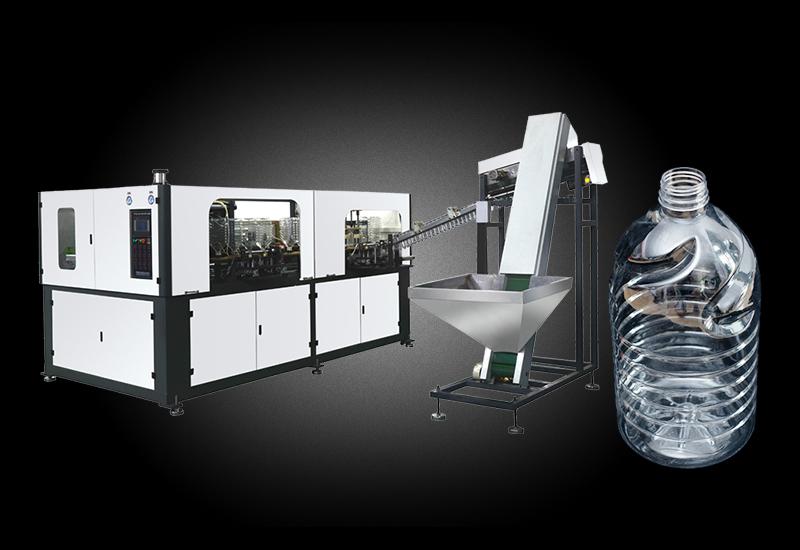 裕名加长版1600瓶/小时高质量稳定5L油瓶水瓶一出二全自动吹瓶机 YM-AB5000-2-56-190-Z